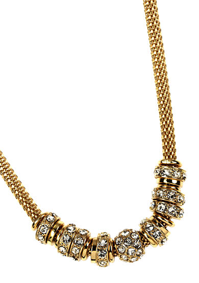 Anne Klein Gold-Tone Rondelle Necklace