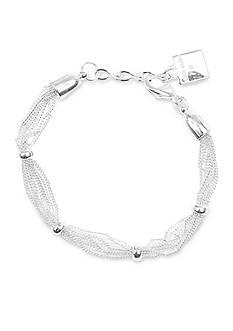 Anne Klein Silver-Tone Mesh Bracelet