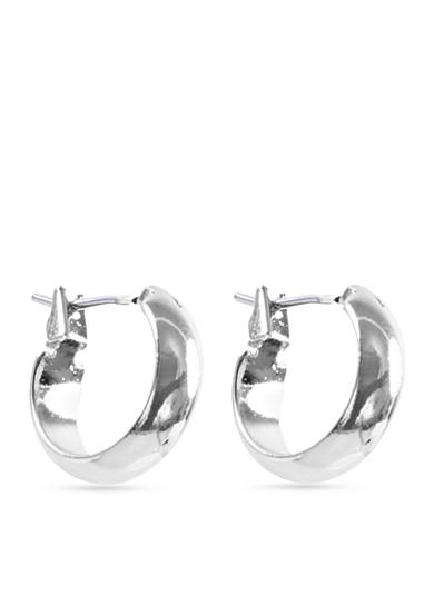 Anne Klein Silver-Tone Hoop Earrings