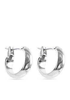 Anne Klein Silver-Tone Hoop Earrings