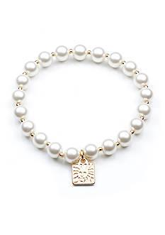 Anne Klein Pearl Stretch Bracelet