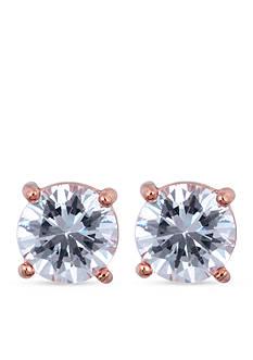 Anne Klein Rose Gold-Tone Crystal Stud Earrings
