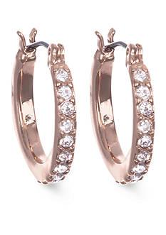 Anne Klein Rose Gold-Tone Mini Hoop Earrings