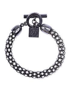 Anne Klein Hematite Pave Tubular Bracelet