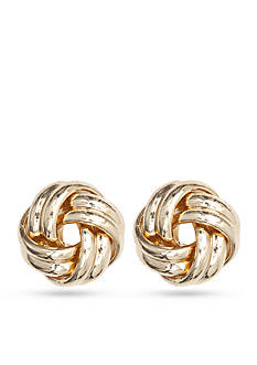 Anne Klein Gold-Tone Sailor's Knot Earrings