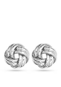 Anne Klein Silver-Tone Sailor's Knot Earrings