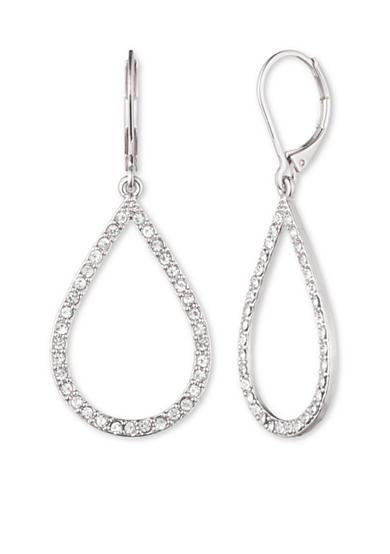 Anne Klein Crystal Teardrop Earrings