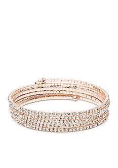 Anne Klein Rose Gold-Tone Coil Bracelet