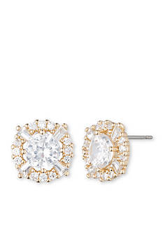 Anne Klein Cubic Zirconia Halo Stud Earrings
