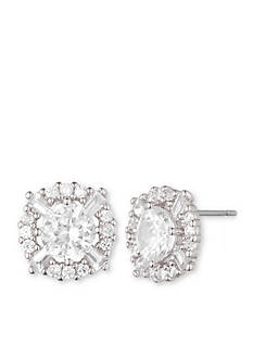 Anne Klein Cubic Zirconia Halo Stud Earrings