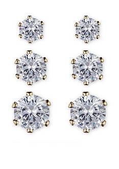 Anne Klein Set of Three Earrings