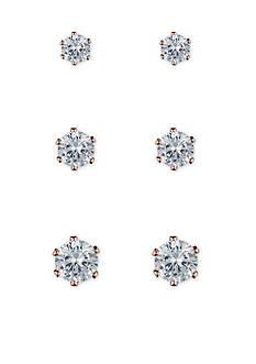 Anne Klein Crystal Stud Earrings Set
