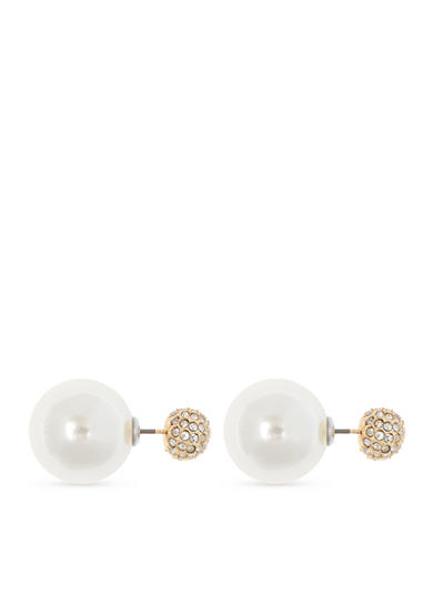 Anne Klein Fireball Pearl Double Earring