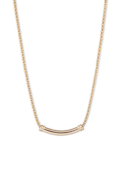 Anne Klein Gold-Tone Bar Frontal Necklace