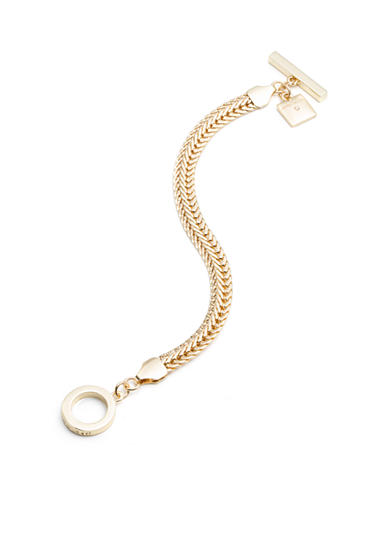 Anne Klein Gold-Tone Chain Toggle Bracelet