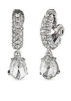 Anne Klein Crystal Drop Clip Earrings