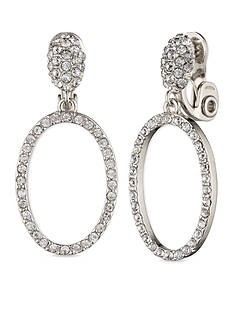 Anne Klein Open Hoop Clip Earrings