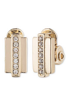 Anne Klein Clip Bar Earrings