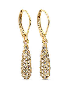 Anne Klein Gold-Tone Crystal Drop Earrings