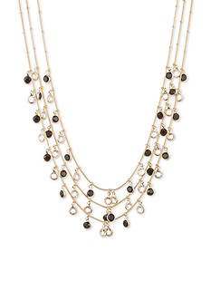 Anne Klein Gold-Tone Jet Multistrand Shaky Necklace