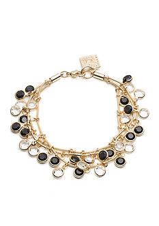 Anne Klein Gold-Tone Jet Multistrand Shaky Bracelet