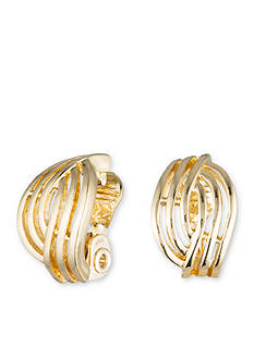 Gold-Tone Anne Klein Clip Earrings