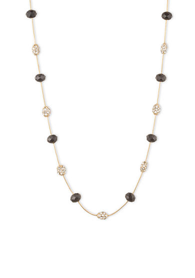 Anne Klein Jet and Crystal Illusion Collar Necklace