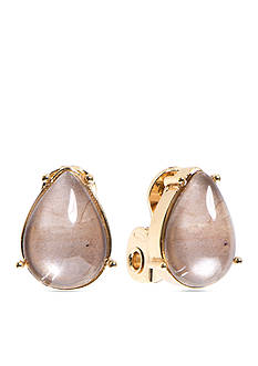 Anne Klein Champagne Clip Earrings
