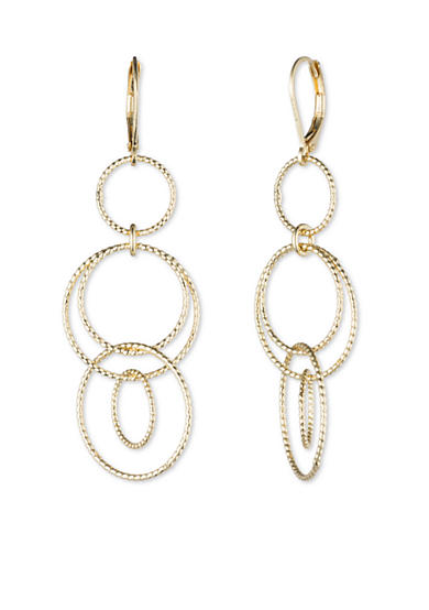 Anne Klein Circle Drop Earrings