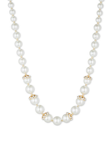 Anne Klein Gold-Tone Pearl Collar Necklace