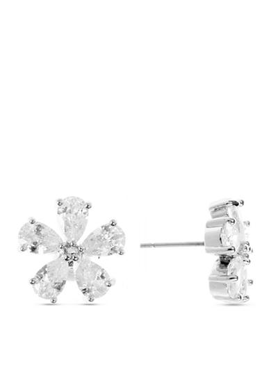 Anne Klein Cubic Zirconia Flower Earrings