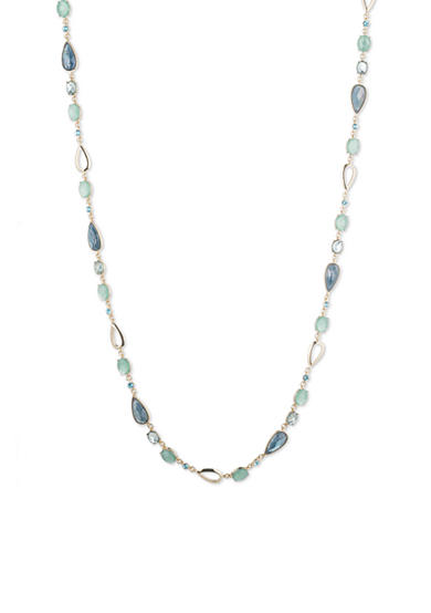 Anne Klein Gold-tone and Blue Long Necklace