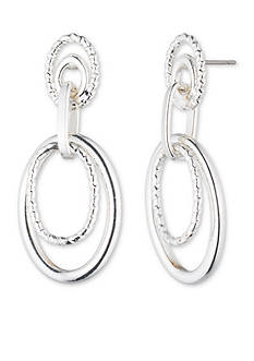 Anne Klein Silver-Tone Double Drop Earrings