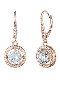 Anne Klein Rose Gold-Tone Drop Earrings