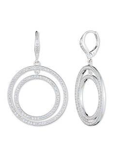 Anne Klein Silver-Tone Double Hoop Earrings