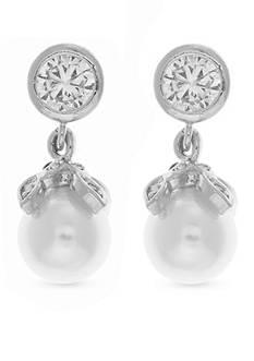 Anne Klein Silver-Tone Drop Earrings