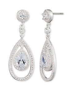 Anne Klein Silver-Tone Orbital Earrings