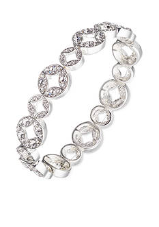 Anne Klein Silver-Tone Crystal Stretch Bracelet