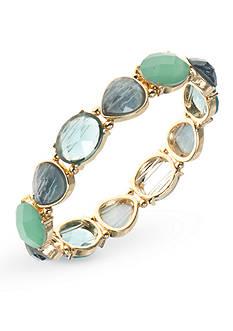 Anne Klein Gold-Tone Turquoise Stretch Bracelet