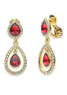 Anne Klein Gold-Tone Siam Earrings