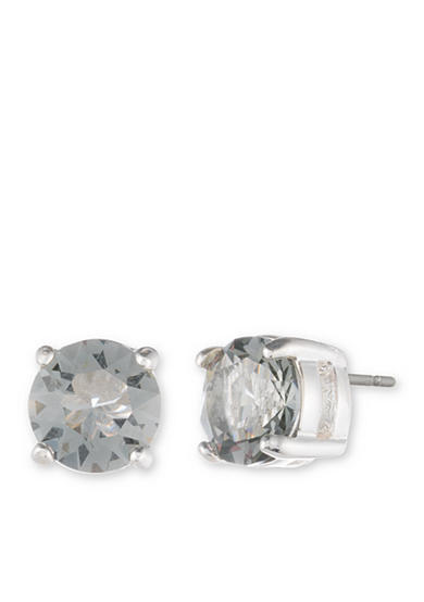 Anne Klein Silver-Tone Stone Stud Earrings