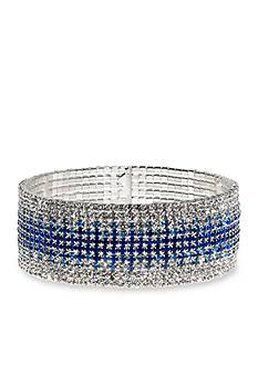 Anne Klein Silver-Tone Blue Cuff Bracelet