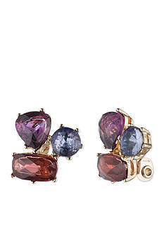 Anne Klein Gold-Tone Cluster Stud Earrings