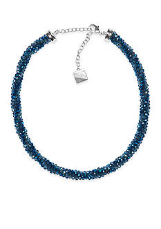 Anne Klein Silver-Tone Blue Necklace