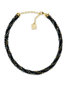 Anne Klein Gold-Tone Jet Necklace