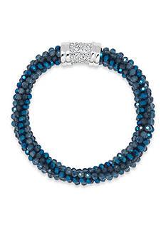 Anne Klein Silver-Tone Blue Bracelet