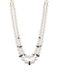 Anne Klein Gold-Tone Pearl Multi Strand Necklace