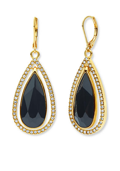 Anne Klein Gold-Tone Teardrop Earrings