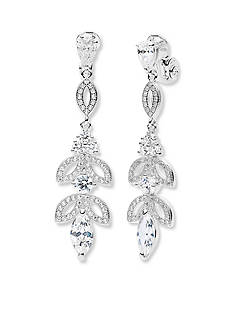 Anne Klein Silver-Tone Drop Earrings