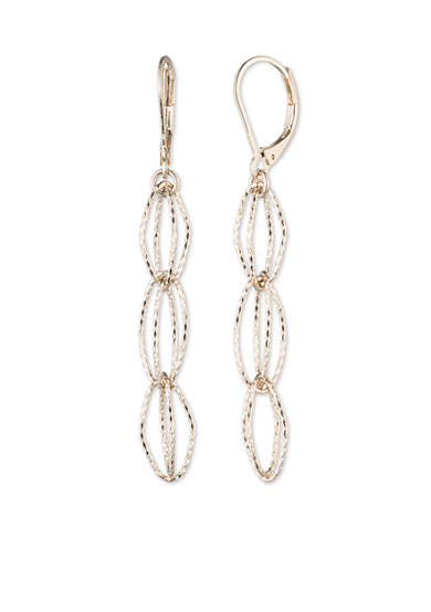 Anne Klein Gold-Tone Open Link Drop Earrings